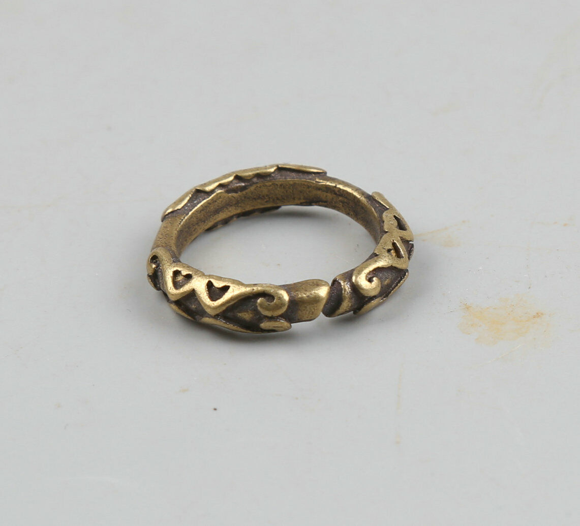 28MM Collect Chinese Bronze Decorative Pattern Mem`s Women/'s Finger Ring Pendant