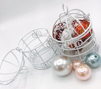 12 Small White Metal Bird Cages for Wedding Quinceanera Favors Party Decorations