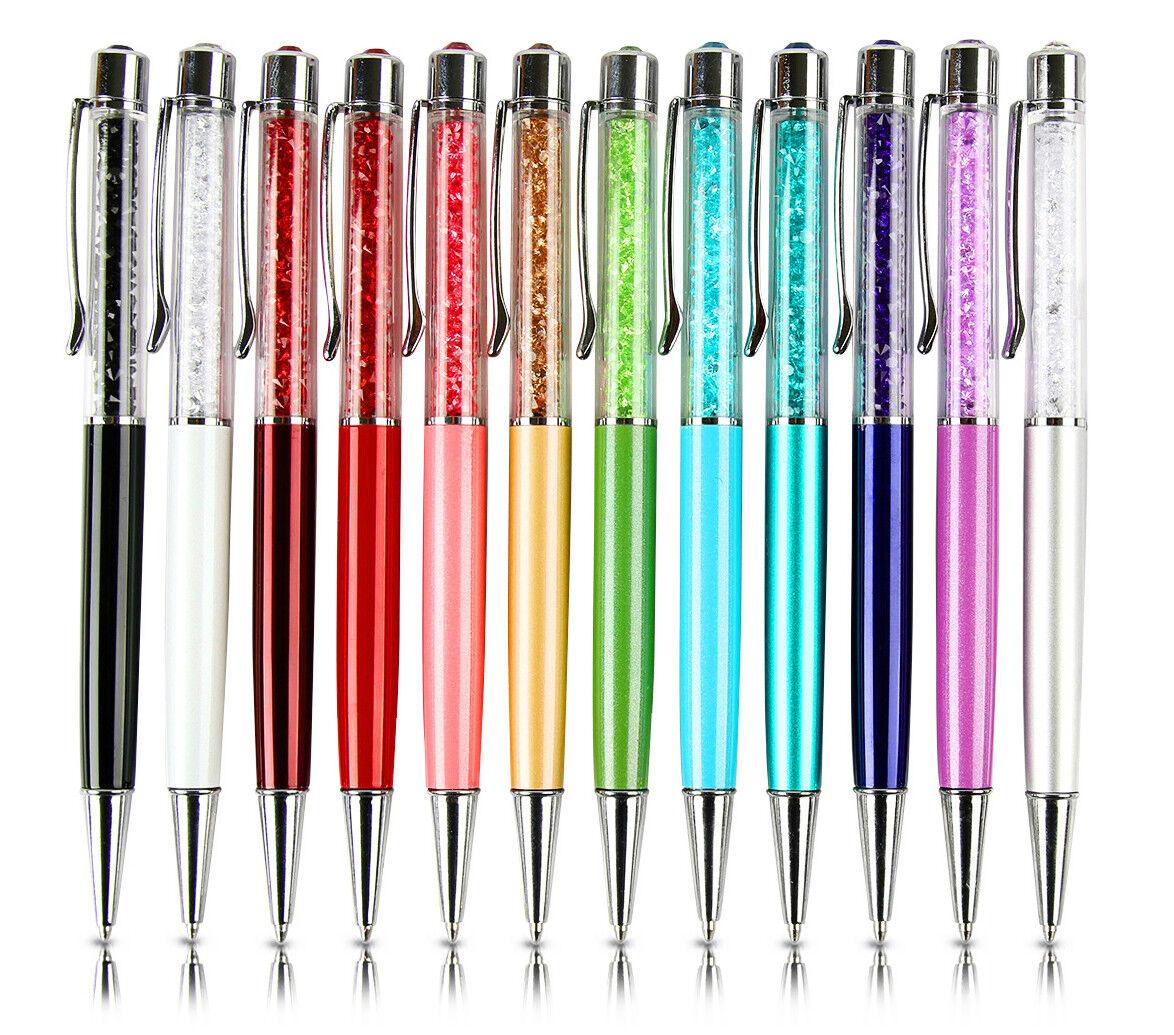 12x New Gift Ballpoint Pen bling Diamond Crystal Metal Pen S