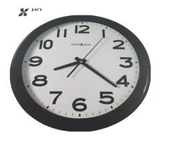 Howard Miller Kenwick Wall Clock, 13-1/2 Black Classroom School