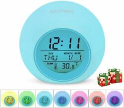 OUTWIT Kids Alarm Clock 2020 Version Wake Up Digital Clock for Boys Girls, 7 Col