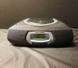 Philips Magnavox AJ3935 Compact Disc Alarm Clock Radio Gentle Wake Repeat Alarm