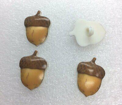 ACORN Nut OAK Tree Autumn Fall Button Shank Flatback Craft Supply Embellishment