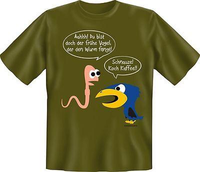 och Kaffee Vogel Geburtstag Fun Shirt Geschenk geil bedruckt (Vogel Geburtstag)
