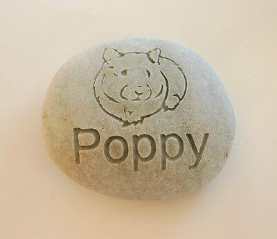 Hamster Pet Memorial Custom Engraved Memorial Stone Pet Loss Personalized - CA$30.00