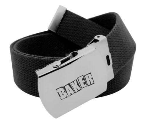 BAKER Skateboards Brand Logo Black Web Scout Belt