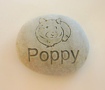 Hamster Pet Memorial Custom Engraved Memorial Stone Pet Loss Personalized - CA$40.00