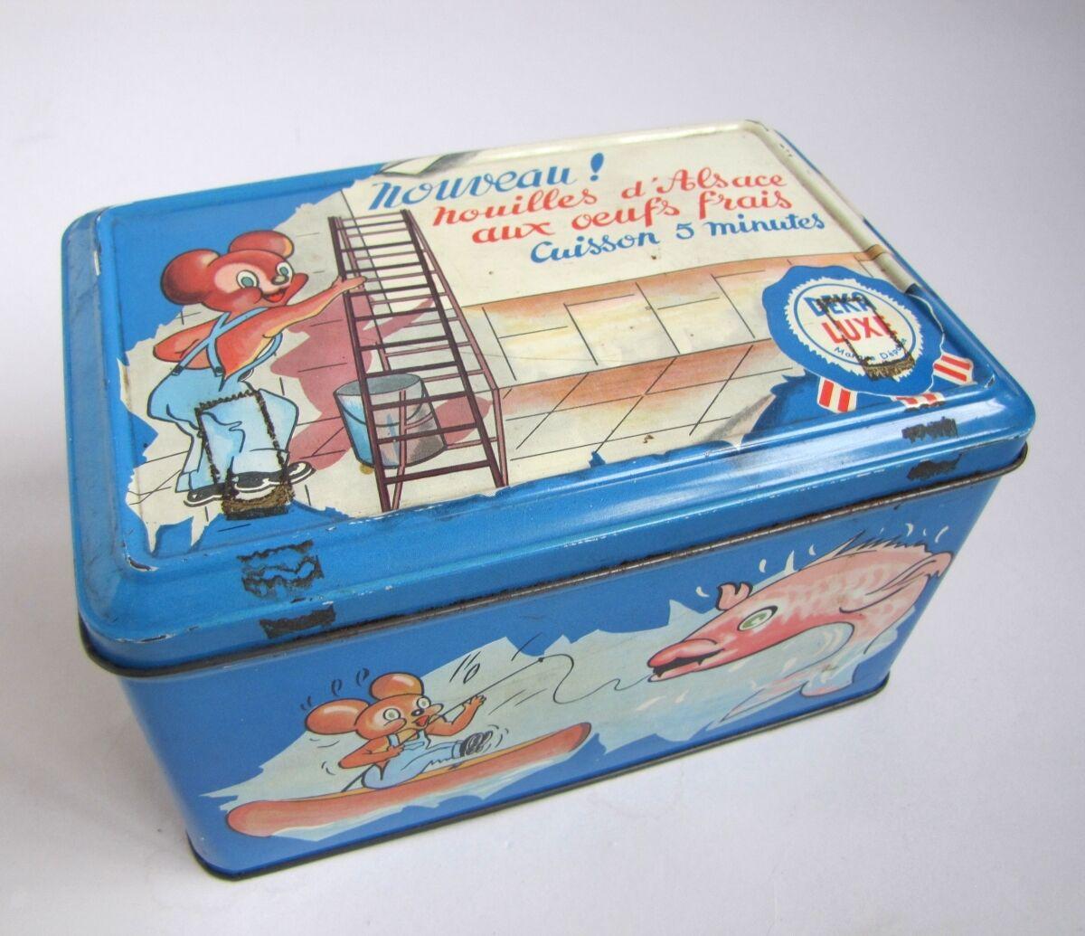 Ancienne bo te en m tal nouilles d 39 alsace deka luxe strasbourg for sale picclick - Boite metal ancienne ...