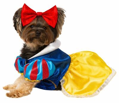 Rubies Disney Snow White Princess Dress Bow Pets Dogs Halloween Costume - Dog Snow White Costume