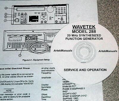 Wavetek 288 20mhz Function Generator Operating Service Manual Wschematics
