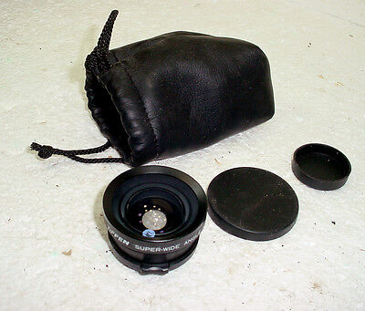 Tiffen 37mm Super Wide Angle Converter Lens 0.5X Snap On See The Difference