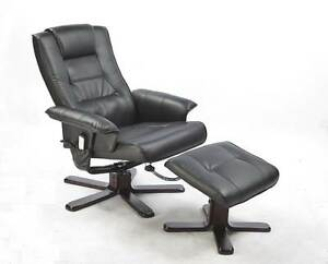 ON SALE - PU Leather Massage Chair Recliner Ottoman Lounge Remote Melbourne CBD Melbourne City Preview