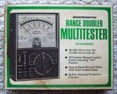 Nos Vintage Micronta Range Doubler Multitester 43 Ranges 50000 Ohmsvolt Dc