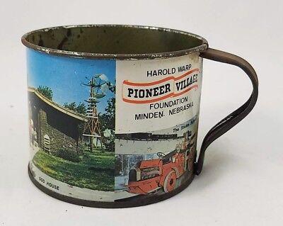 Harold Warp Pioneer Village Minden NE Cup Souvenir Tin Mug Pony Express Station