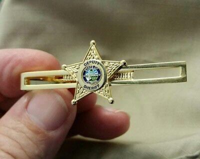 Tie Bar Florida Deputy Sheriff Star Gold Electroplate