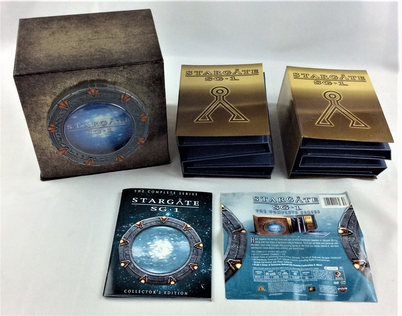 STARGATE SG-1 COMPLETE SERIES DVD SEASONS 1-10 ALL 212 EPISODES ENGLISH FRENCH - $79.99