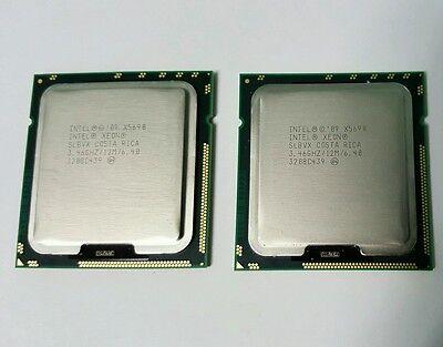 Matched Pair Intel Xeon X5690 3.46GHz Six Core Processor CPU SLBVX LGA 1366