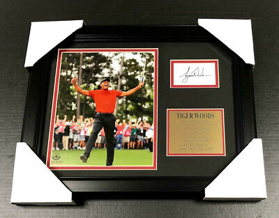 Tiger Woods Framed Photo (TIGER WOODS 2019 MASTERS Facsimile Autographed REPRINT Framed 8x10 Photo)