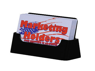 Black Business Card Holder Counter Display Stand Table Top Acrylic Lot Of 4