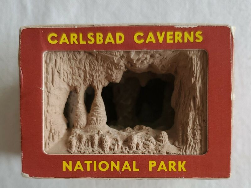 Vtg  Carlsbad Caverns National Park Mini Scene Diorama Shadow Box Souvenir