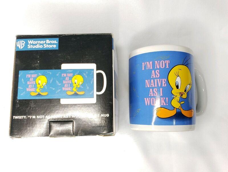 Tweety Bird Vintage 1997 Studio Store 30 oz Jumbo coffee Mug Warner Bros