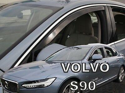 VOLVO S90  4 DOOR 2016-up WIND DEFLECTORS 4pc HEKO TINTED
