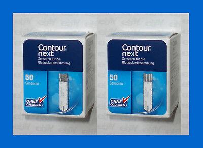 CONTOUR NEXT 100 Stueck Sensoren - Teststreifen * vom FACHHAENDLER * NEU + OVP *
