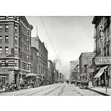 "1910 Memphis Tennessee, Main Street View, 14""x10"" PHOTO, Businesses, automobiles"