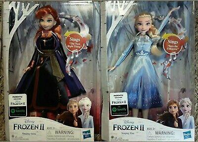 Disney Lot Frozen 2 Singing Elsa and Singing Anna DOLLS NEW