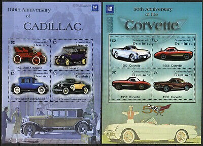 Dominica Stamp - Corvettes and Cadillacs Stamp - NH