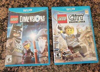 LEGO City Undercover and Lego Dimensions (Nintendo Wii U 2013) Complete TESTED