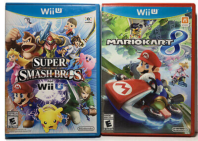 Mario Kart 8 Nintendo Wii U and Super Smash Bros Nintendo Wii U Lot Bundle