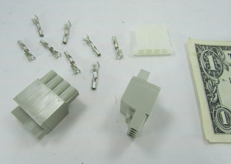 2 Unknown 4-Position Connector Kits, Screw Terminal Plugs, Flat Plug & Contacts
