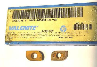 10 Valenite Face Mill Cutter Carbide Inserts Apet-160464-er Grade V1n 10 Pack