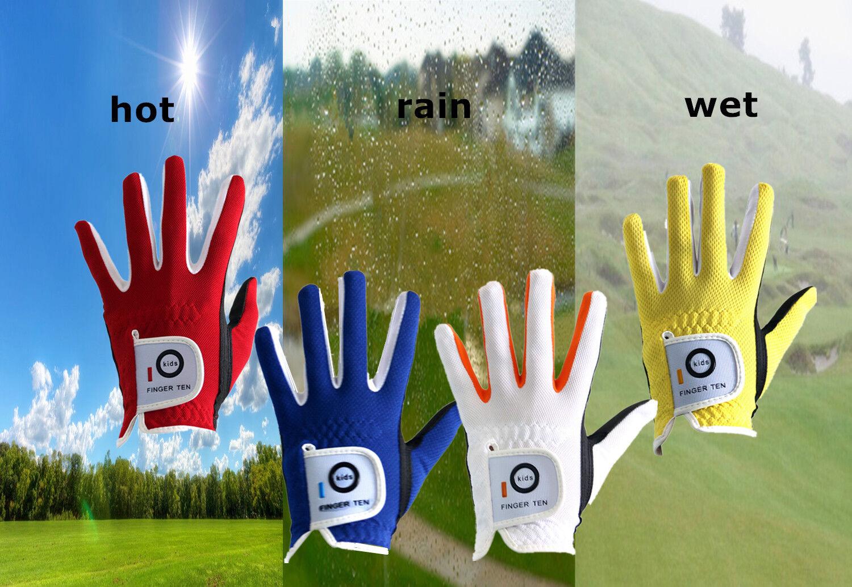 Junior Kids Golf Gloves 2 Pack Left Right Hand Boys Girls Yo