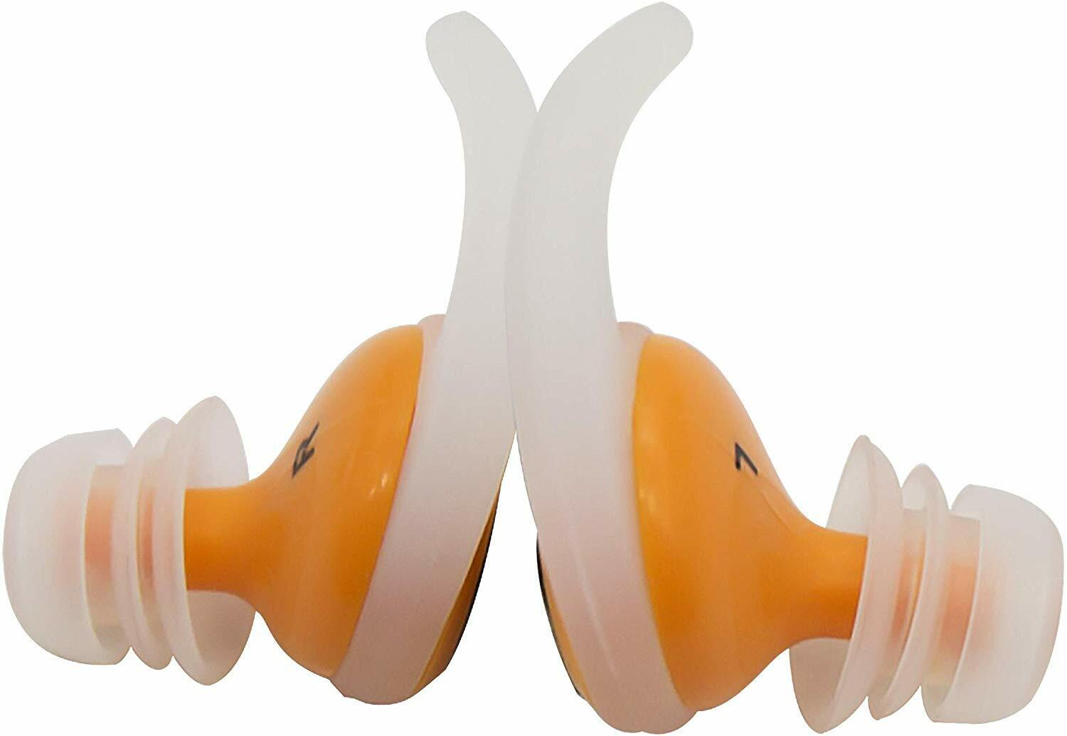 Orange Swimming Earplugs Audible Ear Plugs for Swimming, Surfing, Diving Other Swimming