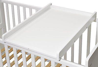 Wickelbrett | Wickeltisch | Wickelaufsatz für Betten 140x70 und 120x60 cm, weiss