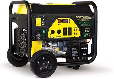 Portable Generator - Dual Fuel - Lp And Gas - 7500 Watts Gas - 6750 Watts Lp