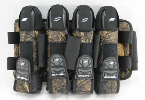 Social Paintball Grit Pack Pod Tournament Harness 4+7 - Hunter Camo - NEW