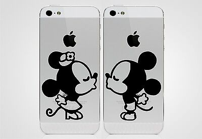 Mickey Mouse And Minnie Mouse Kissing iPhone 5 Sticker Decal Apple For iPhone