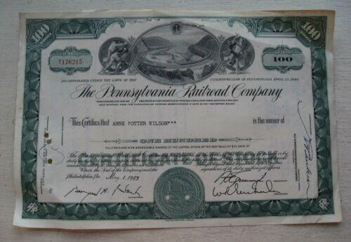 Pennsylvania Railroad Stock Certificate  1965