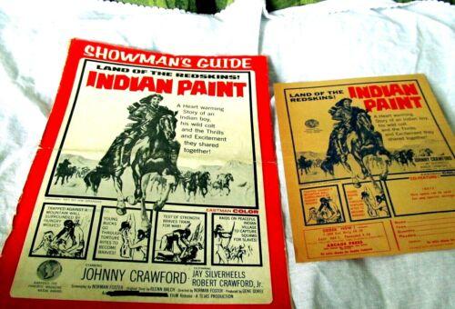 PRESSBOOK JOHNNY CRAWFORD 1965 INDIAN PAINT US ORIG JAY SILVERHEELS