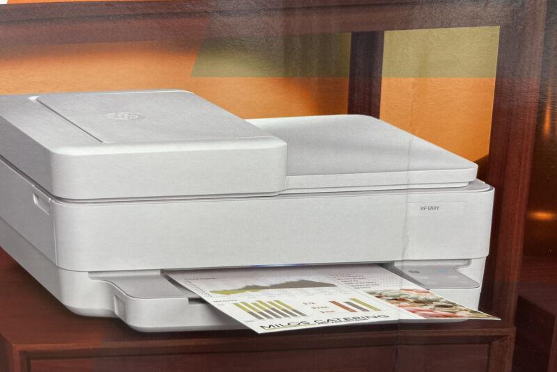 New HP Pro 6452/6458 (7858) Printer/Copy/Scan-Wireless-Fax+Free Setup INK-NEW!