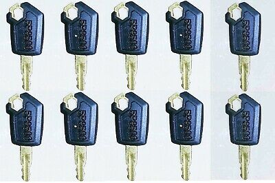 10 Keys For Cat Caterpillar Heavy Equipment Ignition Key 5p8500