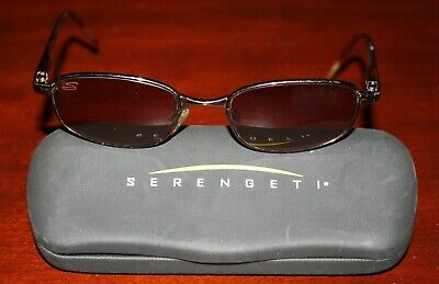 Genuine Serengeti Sunglasses With Case Italy Brown frame and lens - For (Serengeti And Sunglasses)
