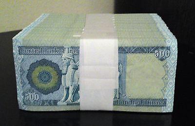 Iraq Dinar 10,000 Lot Of 20 X 500 Dinar Notes Uncirculated Wholesale Resale