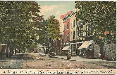 Second Street Looking South Clearfield Pa Postcard 1908