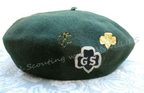 1939 Girl Scout Uniform HAT BERET TREFOIL Logo KANGOL Hallmark FREE Pin