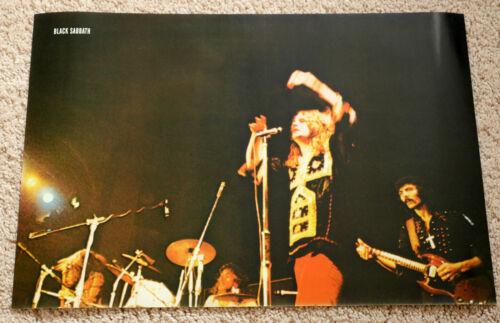 Black Sabbath poster Black Sabbath Vol. IV on stage Ozzy Osbourne Tony Iommi RaR