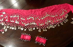 Belly Dance Hip Scarf and Wrist bands